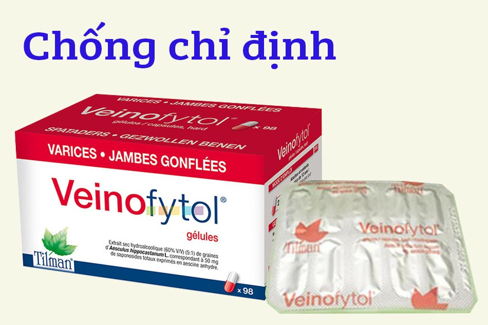 Chống chỉ định Veinofytol