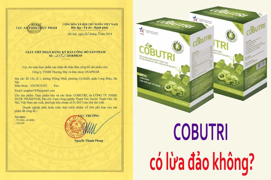 Viên uống Cobutri có lừa đảo không?