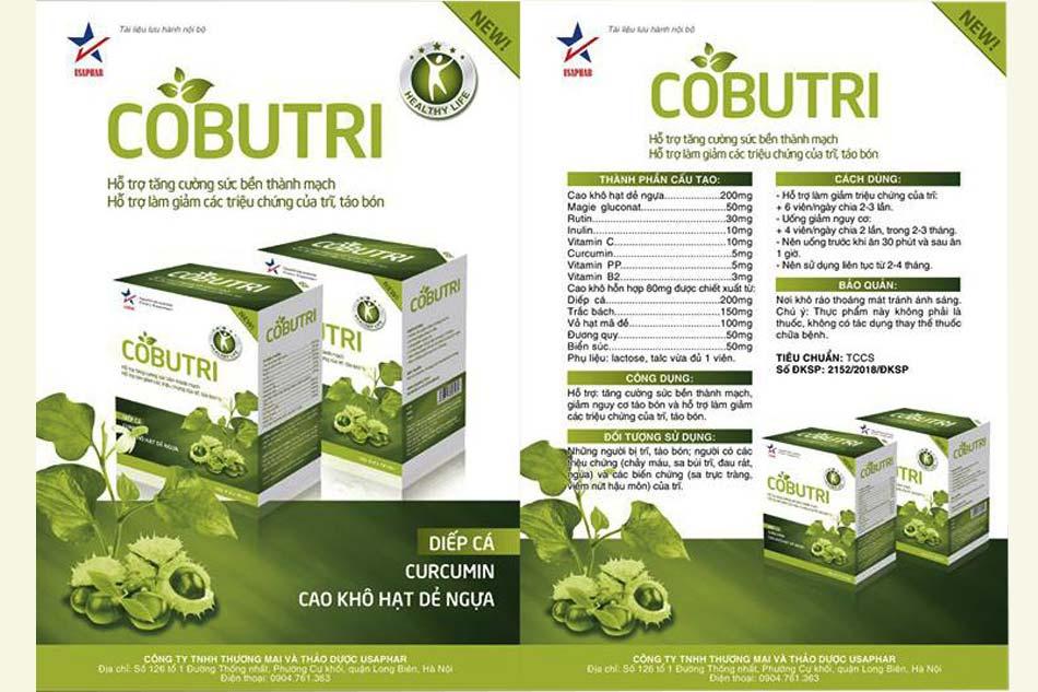 Thành phần chính và hàm lượng của viên nang Cobutri