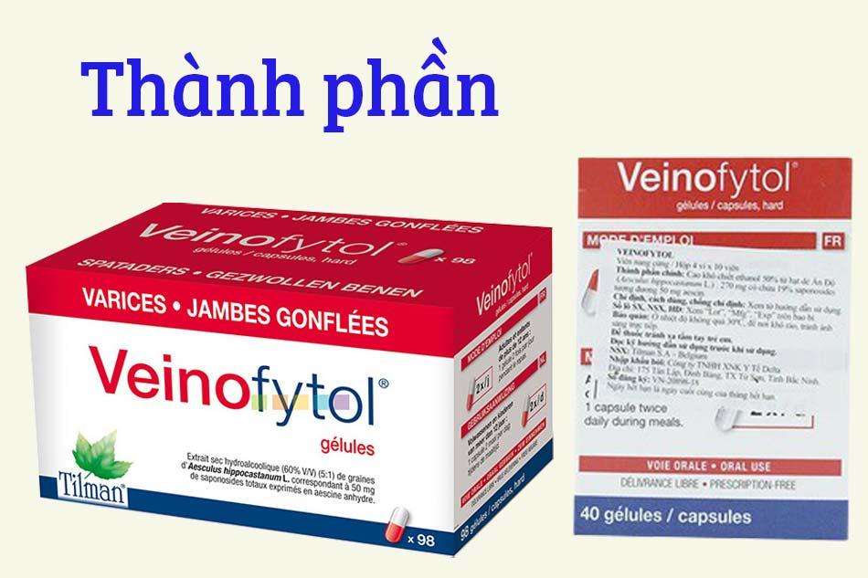 Thành phần của thuốc Veinofytol Tilman