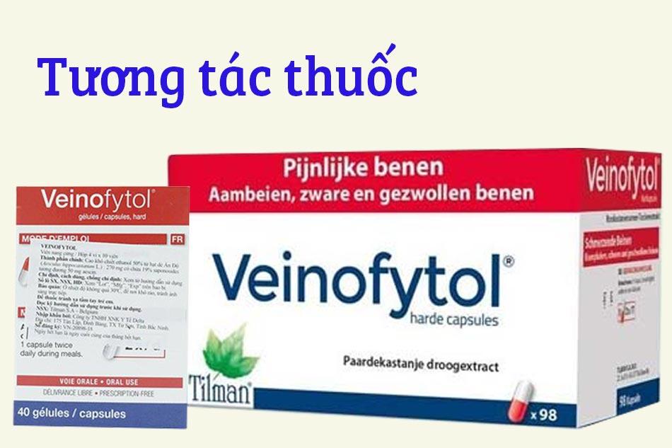 Tương tác thuốc Veinofytol