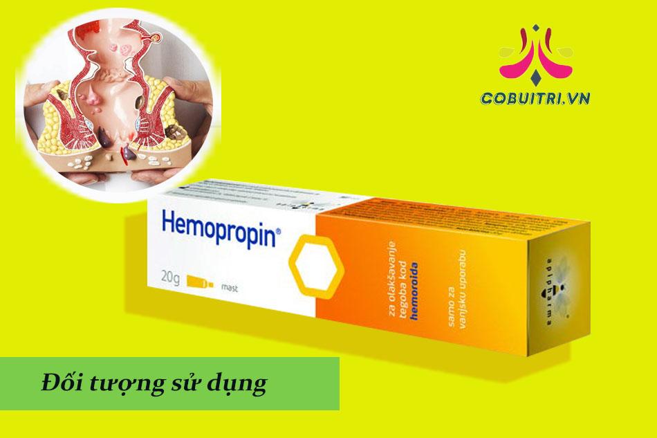 Đối tượng sử dụng Hemopropin