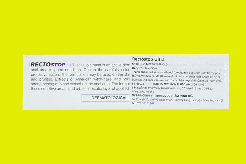 Thông tin về sản phẩm Rectostop